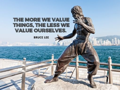 Being materialistic will not provide you with more value.